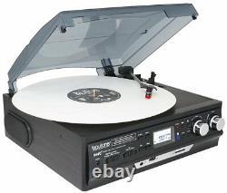 Retro Vintage Radio Cassette MP3 Record Player 3 Speed LCD Turntable Vinyl LP