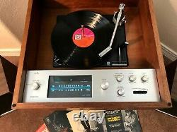 Serviced Pioneer C-6000A Tuner Amp Record Player Turntable Speakers & Bluetooth