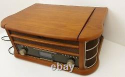 Shuman 8 In 1 Retro Record CD DAB FM Radio MP3 Tape USB Player Unit