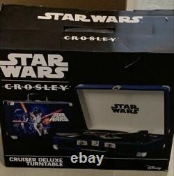 Star Wars Crosley Cruiser Deluxe Turntable Record Player New