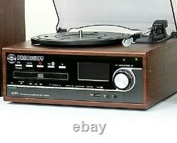 Steepletone Broadway Record Player & Bluetooth Music Centre Record CD/LP to MP3