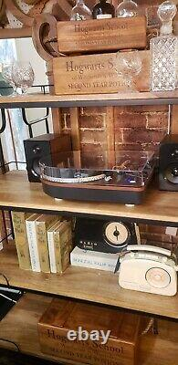 Steepletone bluetooth send and receive record player with speakers