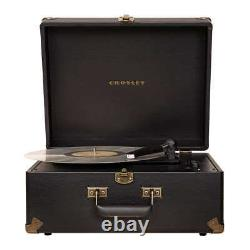 Suitcase Turntable Bluetooth Anthology Record Player 3 Speed Vintage Style Black