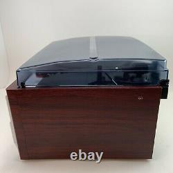 TechPlay ODC128WD Wood Stereo with Record Player Turntable Bluetooth CD Cassette