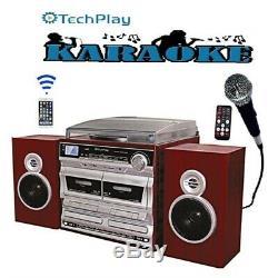TechPlay ODCRK2110 BT, Karaoke, turntable, WithDual CD Player/Recorde