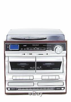 TechPlay ODCRK2110 BT, Karaoke, turntable, WithDual CD Player/Recorder