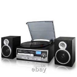 Trexonic 3-Speed Vinyl Turntable 28SP Record Player CD USB SD Encoding FM Radio