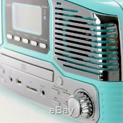 Trexonic Record Player Bluetooth FM/AM Radio 3-Speed Turntable SD/USB Input