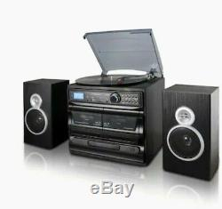 Trexonicrecord Player Turntablewith CD Dual Cassette Bluetooth Usb/sd Speakers