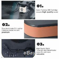 Turntable Record Player with 2 Built-in Stereo Speaker, Turntable 2-Speed Vinyl
