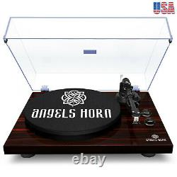Turntable Stereo Record Player with Built-in 2-Speed Phono Preamp Belt & Drive