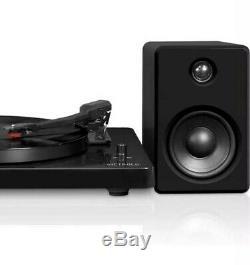 VICTROLA Turntable RECORD Player STREAM via BLUETOOTH 50-Watt Speakers Open Box