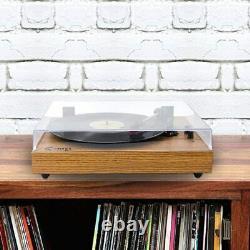 VINYL MUSIC ON Retro Record Player for 33/45/78 RPM Bluetooth Belt-Drive Turntab
