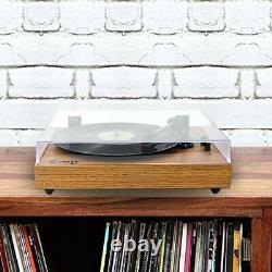 VINYL MUSIC ON Retro Record Player for 33/45/78 RPM Vinyl Records, Bluetooth