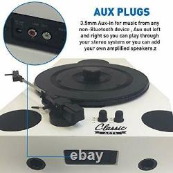Vertical Bluetooth Turntable 3 Speed Record Player Auto Stop