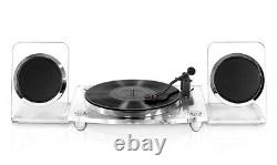 Victrola 2-Speed Record Player with Bluetooth Speakers in Clear