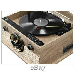 Victrola 6-In-1 Bluetooth Record Player With 3-Speed Turntable, Cd, Cassette Pla