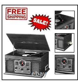Victrola 6-in-1 Nostalgic Bluetooth Record Player with 3-speed Turntable with