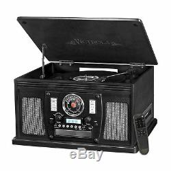 Victrola 8-in-1 Bluetooth Record Player with USB Recording VTA-600B-BLK Black