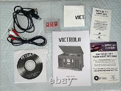 Victrola 8 in 1 Record Player Bluetooth/CD/Cassette FM Radio NEW