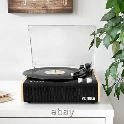 Victrola Eastwood 3-Speed Dual-Bluetooth Hybrid Turntable with Record Care Kit