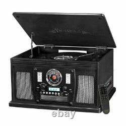 Victrola Navigator 8-in-1 Classic Bluetooth Record Player With Turntable