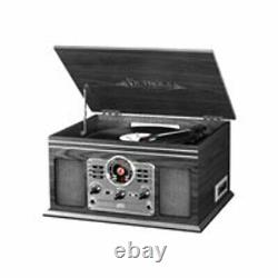 Victrola Nostalgic Bluetooth Record Player with 3-speed Turntable CD Cassette FM