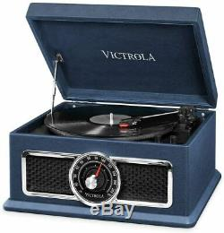 Victrola Plaza 4 in 1 Music Centre with 3-speed record turntable, Bluetooth