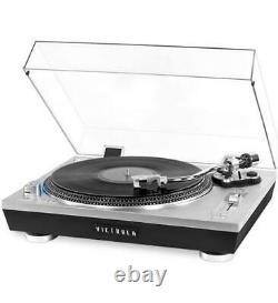 Victrola Pro USB Record Player 2-speed Turntable INN-VPRO-2000-SLV