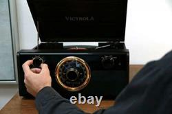 Victrola Wood Metropolitan Mid Century Modern Bluetooth Record Player with