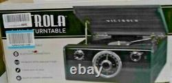 Victrola Wood Metropolitan Mid Century Modern Bluetooth Record Player with 3