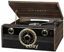 Victrola Wood Metropolitan MidCentury Modern Bluetooth Record Player Phonograph