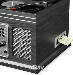 Victrola Wooden 6 in 1 Nostalgic Record Player Turntable Bluetooth Multicolors