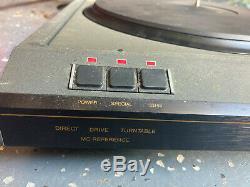 Vintage HiFi Record Player Direct Drive Turntable Revox / Benz Micro B-291 Parts