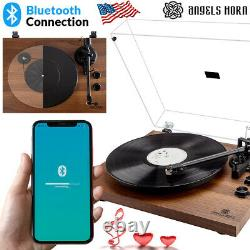 Vintage Record Player Turntable Bluetooth Two-Speed 33 1/3&45 Rpm Christmas Gift