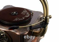 Vintage Retro Phonograph Gramophone Vinyl Record Player Turntable Bluetooth