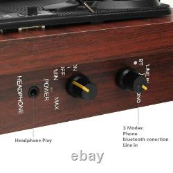 Vinyl LP Record Player Stereo Turntable 3-Speed, Speakers, AU Plug, Bluetooth