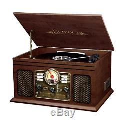 Vinyl LP Vintage Radio CD Cassette MP3 Record Player Bluetooth Turntable, New