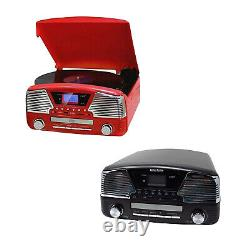 Vinyl Record Player Radio MP3 Player Music Centre with USB 4 in 1