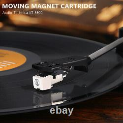 Vinyl Record Player Turntable Stereo Speakers Bluetooth Three-speed bbelt-driven