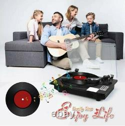 Vinyl Record Player Turntable with Bluetooth Input Output, LP Player with Speaker
