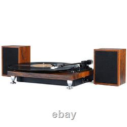 Vinyl Record Player Turntable with Stereo Speakers Turntable Bluetooth belt-driven