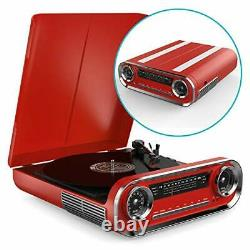 Vinyl Record Player with Built In Speakers, Vintage Design Music Centre with