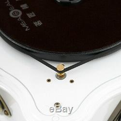 Vinyl Turntable Gramophone Phonograph CD Record Player Speaker FM AUX Bluetooth
