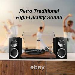 Wireless Stereo Record Bluetooth Player System with Speakers Turntable Cassette